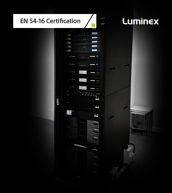 Luminex teams up with Harman, Peavey, d&b and Powersoft to achieve EN 54-16 Certification