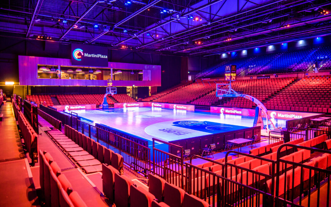 Top lighting brands jointly support the top sports hall in Martini Plaza, Netherlands